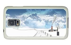 Diy Samsung S5 customizable covers Fantasy winter snow PC White for Samsung S5,Samsung Galaxy S5,Samsung i9600