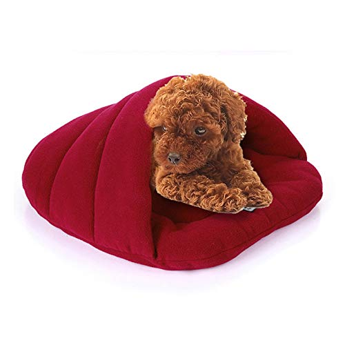 Wine Red Pet Supplies hyx Slipper Shape Charcoal Wool Warm Thicken Pet Dogs Cats House Size  S, 38×48×23cm (color   Wine Red)