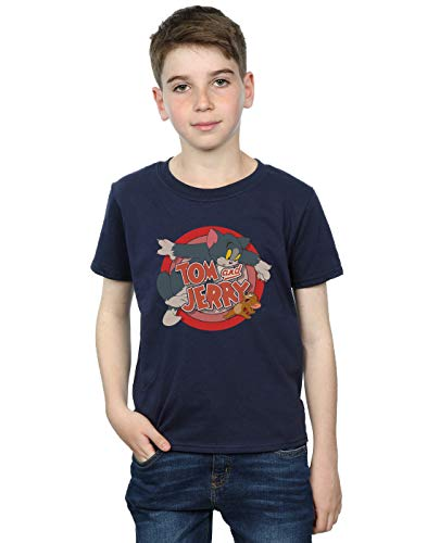 - Tom And Jerry Boys Classic Catch T-Shirt 9-11 Years Navy Blue