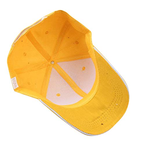 HYIRI Street Fashion Men and Women Summer Simple Baseball Hat Yellow]()