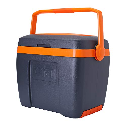 GiNT Portable Cooler with Handle, 30 Quart Ice Chests, 5 Days Ice Retention, Gray
