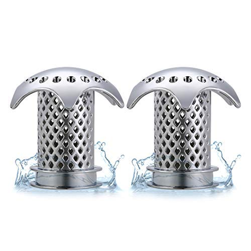 ttbero Hair Catcher Shower Drain for Bathtub Drain, Tub Hair Strainer Sink Drain Strainer Anti-Rust Anti-Mold Fast Water Drain Fit Drain Size from 1.46''to 1.76'' (2PCS)