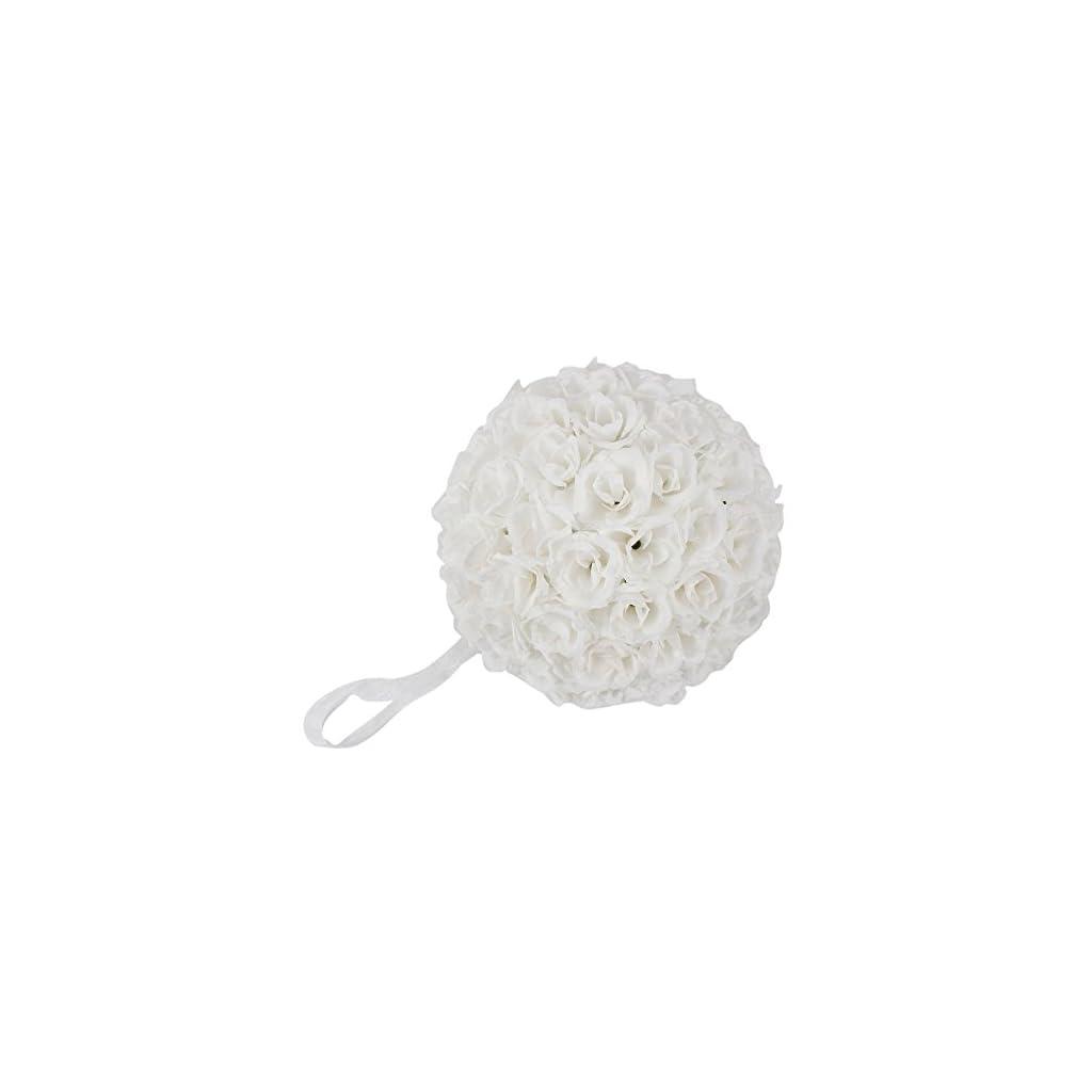 Ben Collection 10 Pack Romantic Rose Pomander Flower Balls Rose Bridal for Wedding Bouquets Artificial Flower DIY White