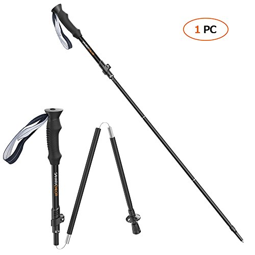 Sahara Sailor Hiking Pole, High-Z Collapsible Trekking Walking Pole for Hiking Camping Climbing with Replacement Tip