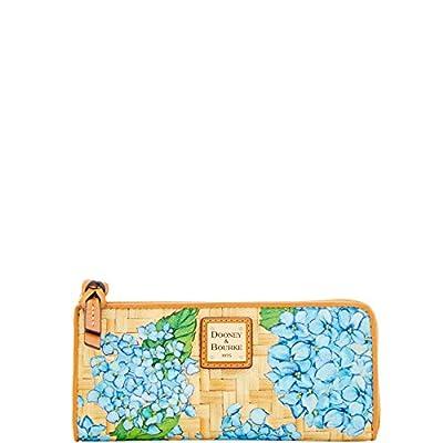 Dooney & Bourke Hydrangea Basketweave Zip Clutch Wallet