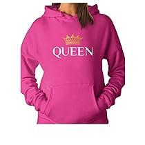 Tstars QUEEN Crown - Matching Couples Women Hoodie X-Large Red
