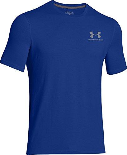 Under Armour Herren Fitness - T-shirt Cc Left Chest Lockup, Royal, M, 1257616
