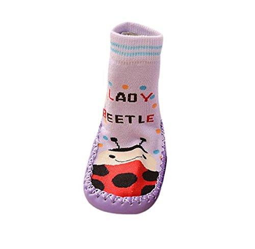 Covermason Kleinkind Baby Anti-Rutsch Sock Schuhe Stiefel Lila