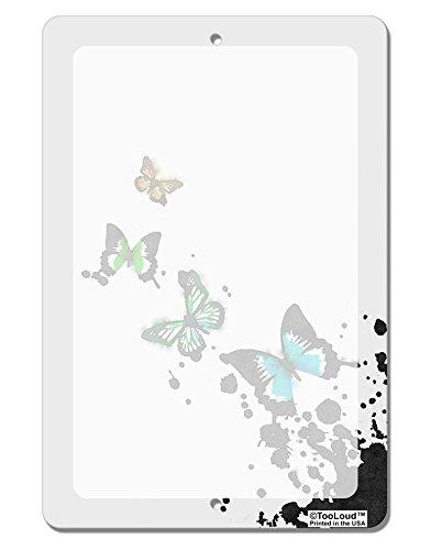 TooLoud Splatter Butterflies AOP Aluminum 8 x 12 Dry Erase Board Sign All Over Print Butterfly Dry Erase Board