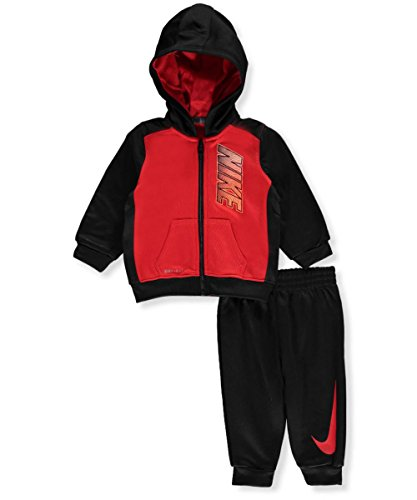 Nike Baby Boys' Therma Dri-Fit 2-Piece Tracksuit - university red,