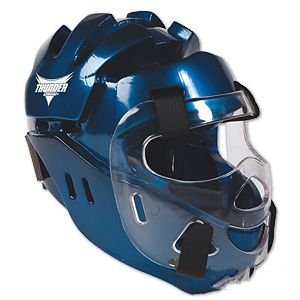 Proforce Thunder Full Headgear w/Face Shield - Blue - X-Large