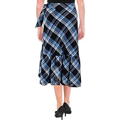 Lauren Ralph Lauren Womens Plaid Ruffled Skirt