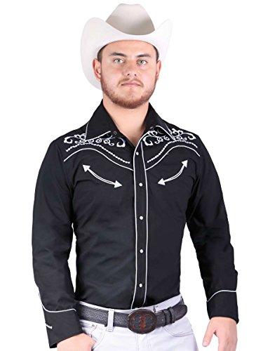Camisa Vaquera M/ Larga El General 65% Polyester,35% Algodón ID 40998 CW6G Negro (XL)