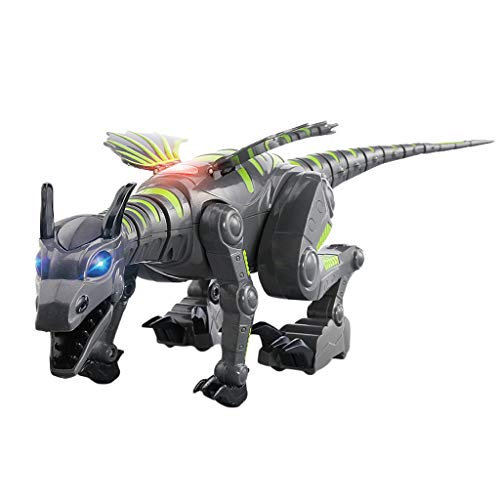 (CMrtew Electric Walking Dinosaur Toys Glowing Dinosaurs with Sound Animals Model Toys for Kids Children Interactive Toys Gift (Green, 47x17x19.5cm))
