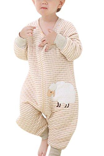 Nine States Baby Soft Cotton Sleep Sack Long Sleeve Wearbale Blanket L Beige