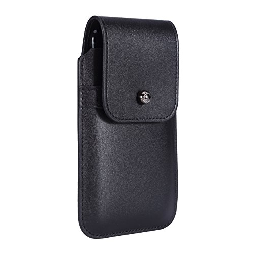 Blacksmith-Labs Barrett 2017 Premium Genuine Leather Swivel Belt Clip Holster for Apple iPhone 6/6s/7 (4.7 inch screen) for use with no cases or covers - Black Cowhide/Gunmetal Belt Clip by Blacksmith-Labs
