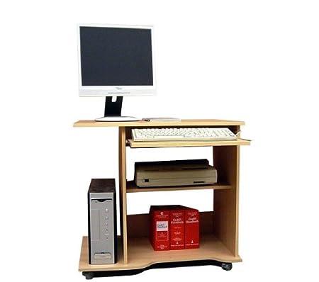 Dreams4Home Brio escritorio mesa de ordenador con ruedas de ...