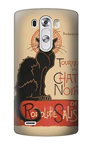 the latest 949c8 442ba Amazon.com: R2739 Chat Noir Black Cat Vintage Case Cover For LG G3 ...