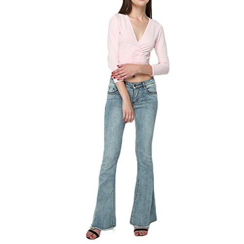 de Pantalones Slim Jeans Der Señora Vaqueros Mond Azul qFaStO
