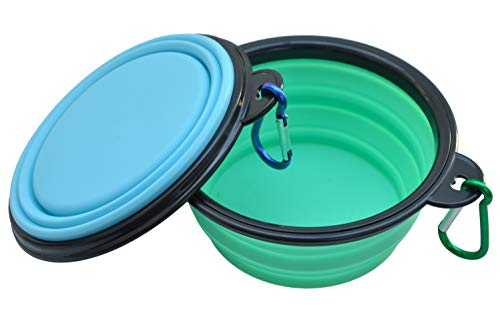 - WootPet Collapsible Dog Bowl, BPA Free, Food Grade Silicone, Foldable Expandable for Dog/Cat Food Water Feeding, Portable Travel Bowl for Camping