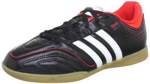adidas 11Questra Indoor Q23914 Jungen Fußballschuhe Schwarz (black 1 / running white ftw / hi-res red f13)