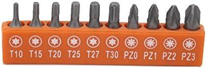 10 piezas juego de puntas para destornillador 25 mm eléctrica ...