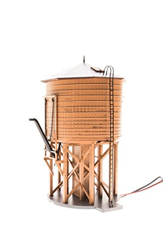 Broadway Limited #6091 HO Weathered Brown Operating Water Tower with Sound