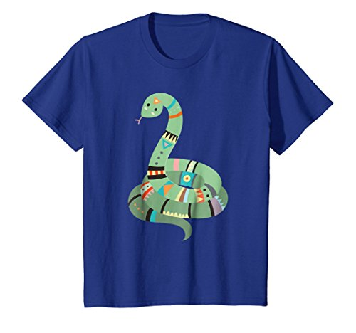 Kids Tribal Pattern Jungle Snake   Cute Animal Gift & T-Shirt 4 Royal ()