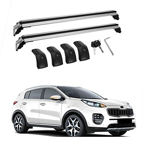 - MotorFansClub Cross Bars Crossbars Fits for KIA New Sportage 2016 2017 2018 2019 Baggage Luggage Roof Rack Rail