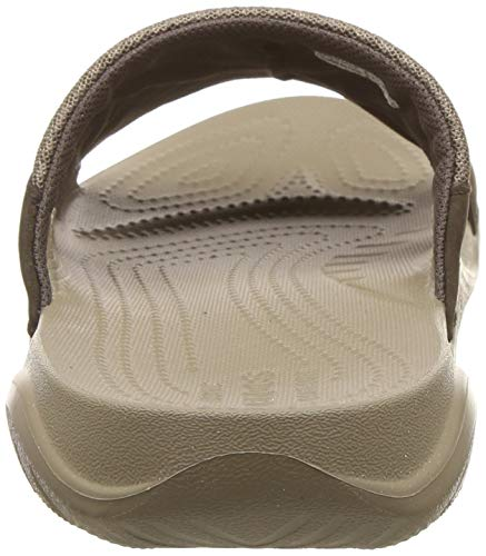 uomo open Slide da Leather marrone Crocs espresso toe Swiftwater sandali khaki 23g IA6qFxOw