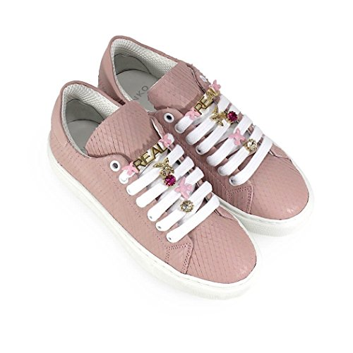 Lyserødo Dame 1p215ty4l7o99 Pink Leder Sneakers 6IddeKlSO