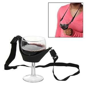 Neoprene Stemstrap Wine Glass Holder, Black