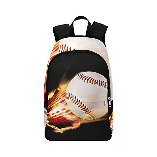 Baseball Stock Illustration Casual Daypack Travel Bag College School Backpack for Mens and Women