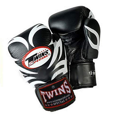 Twins Gloves for Training and Sparring Boxing, Muay Thai, Kickboxing, MMA (Tattoo Black,12 oz)