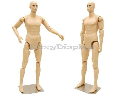 (MD-Z-MFXF) ROXYDISPLAY™ Male Mannequin, Flexible Head, arms and Legs.