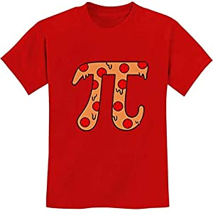 Quafoo Pizza Pi Funny Pi Day Gift Camiseta Juvenil para niños