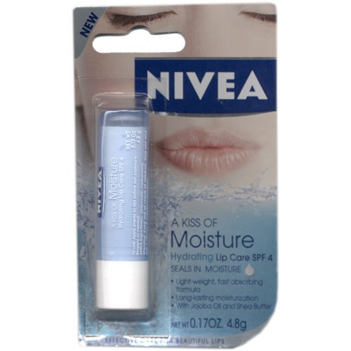 Nivea a Kiss of Moisture Hydrating SPF 4 Lip Care, 0.17 Oz (Pack of 2)