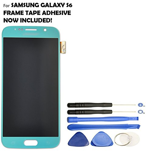 Galaxy S6 LCD Screen Replacement + Touch Digitizer Assembly for Samsung Galaxy S6 G920 G920A G920P G920T G920V G920R4 G920F , with Repair Tools (Blue Topaz) by Veritas Cellular (Image #1)