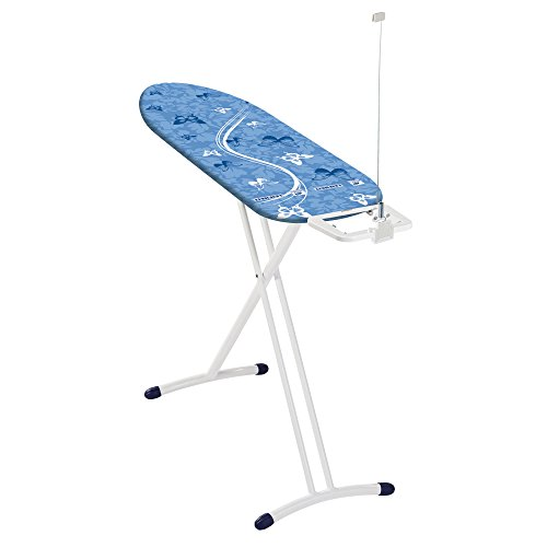 Leifheit 72563-1 AirBoard Premium Lightweight Thermo-Reflect Ironing Board with Iron Rest and Cord Minder