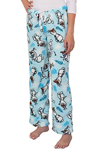 Disney Women's Ultra-Soft Character Plush Drawstring Pajama Pant (Olaf, X-Large) (Disney Womens Pajamas)