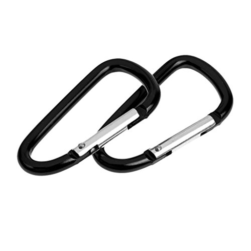 MonkeyJack 20 Pieces D Shape Spring loaded Gate Aluminum Carabiner for Camping, Hiking, Climbing