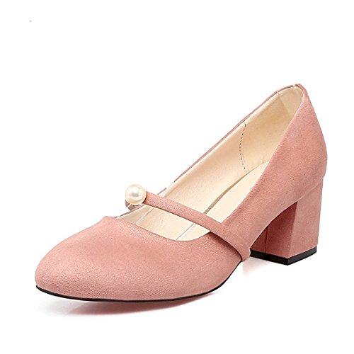 et Pour Rose Gris pink Chaussures Comfort Rouge Printemps de de Vert Automne Fleece Heels Talon Carré Femmes Pour DIMAOL L'Emploi L'Armée L'Extérieur Bureau Pearl Ox4FqSP4