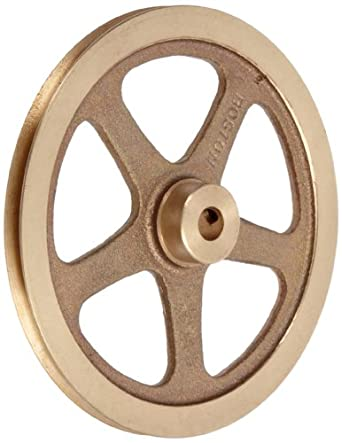 """Boston Gear G1220 Grooved Pulley, Fits Round Belts 0.1875"""" or Smaller, 0.250"""" Face, Brass"""