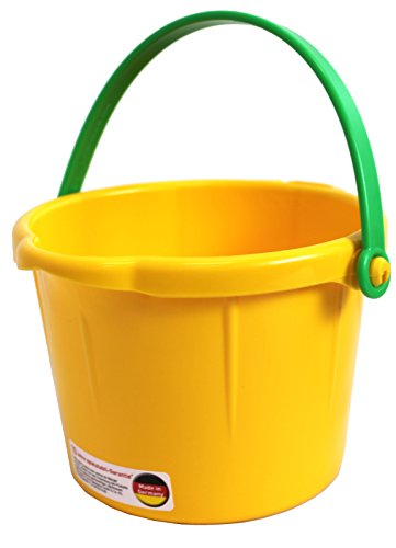 Spielstabil Small Sand Pail Yellow - Holds 1.5 Liters (Made in Germany)