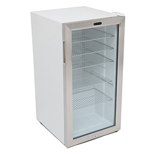 Lock Beverage Cooler (Whynter BR-128WS Beverage Refrigerator with Lock, 120 Can Capacity, Stainless Steel)