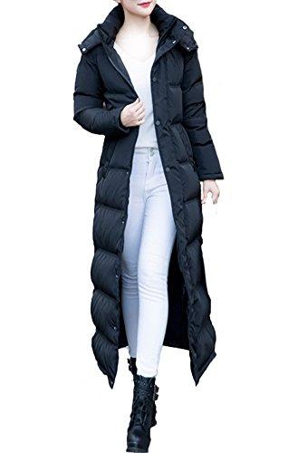 Lange damen mantel mit kapuze