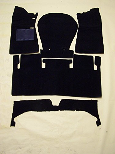 1968-1973 Datsun/Nissan 510 5 piece sewn to contour front and rear black loop replacement carpet ()