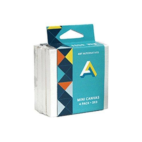 Art Alternatives Mini Canvas 3X3 4-Pack [並行輸入品]   B07T9S9G85