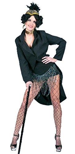 Broadway Themed Halloween Costumes (Funny Fashions Womens Broadway Jacket Flapper Fancy Halloween Themed Costume, L (12-14))