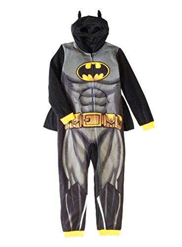 Komar Batman Little & Big Boys' One Piece Character Fleece Pajama (M (8))